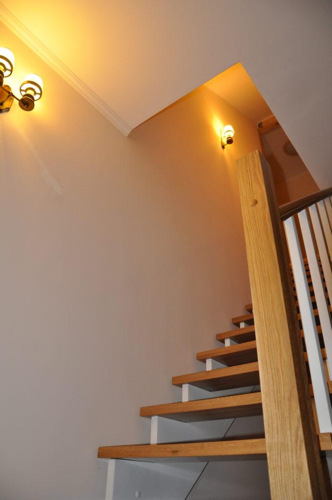 Projekt Sielanka - schody drewniane