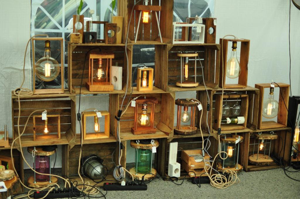 Lampiony z drewna